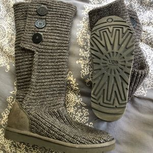 Ugg Grey Button Boot